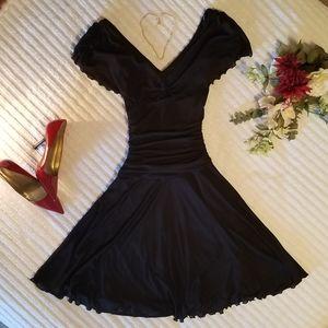 {Bisou Bisou} Black Cocktail Party Dress 👠